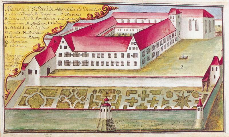 Kloster St. Peter um 1624